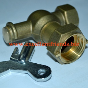 Brass Angle Meter Valve with key